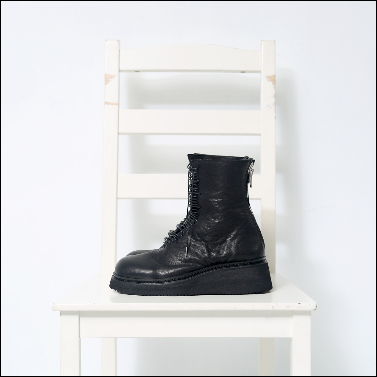 Portaille_LACE UP LEATHER BOOTS PQ03F_BLACK