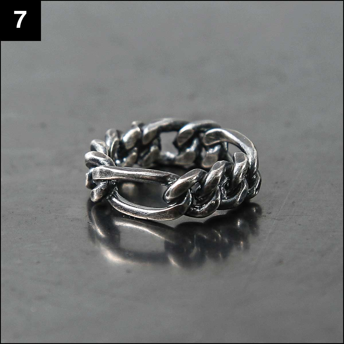 Rusty Thought_CHAIN RING SIL925 NCR4