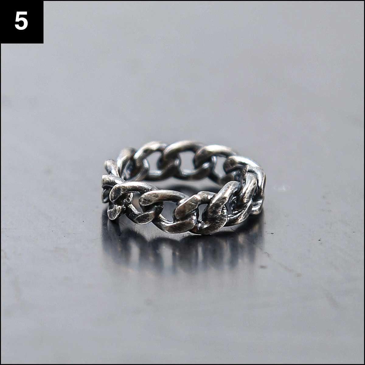 Rusty Thought_CHAIN RING SIL925 NCR2