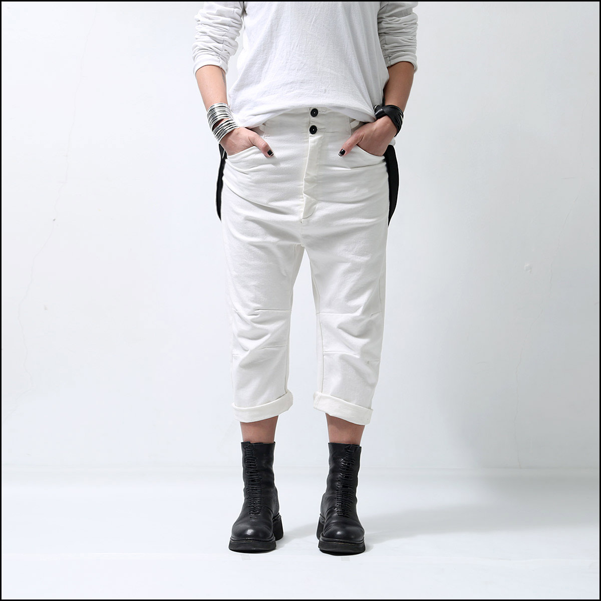 MAVRANYMA_SUSPENDER DENIM P48.07_WHITE