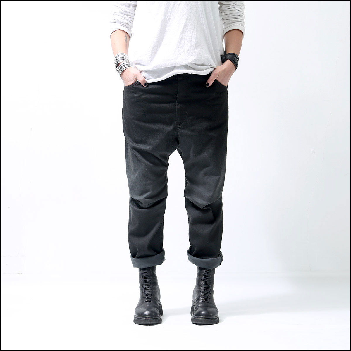 NOSTRASANTISSIMA_RELAX STRETCH DENIM P06_BLACK