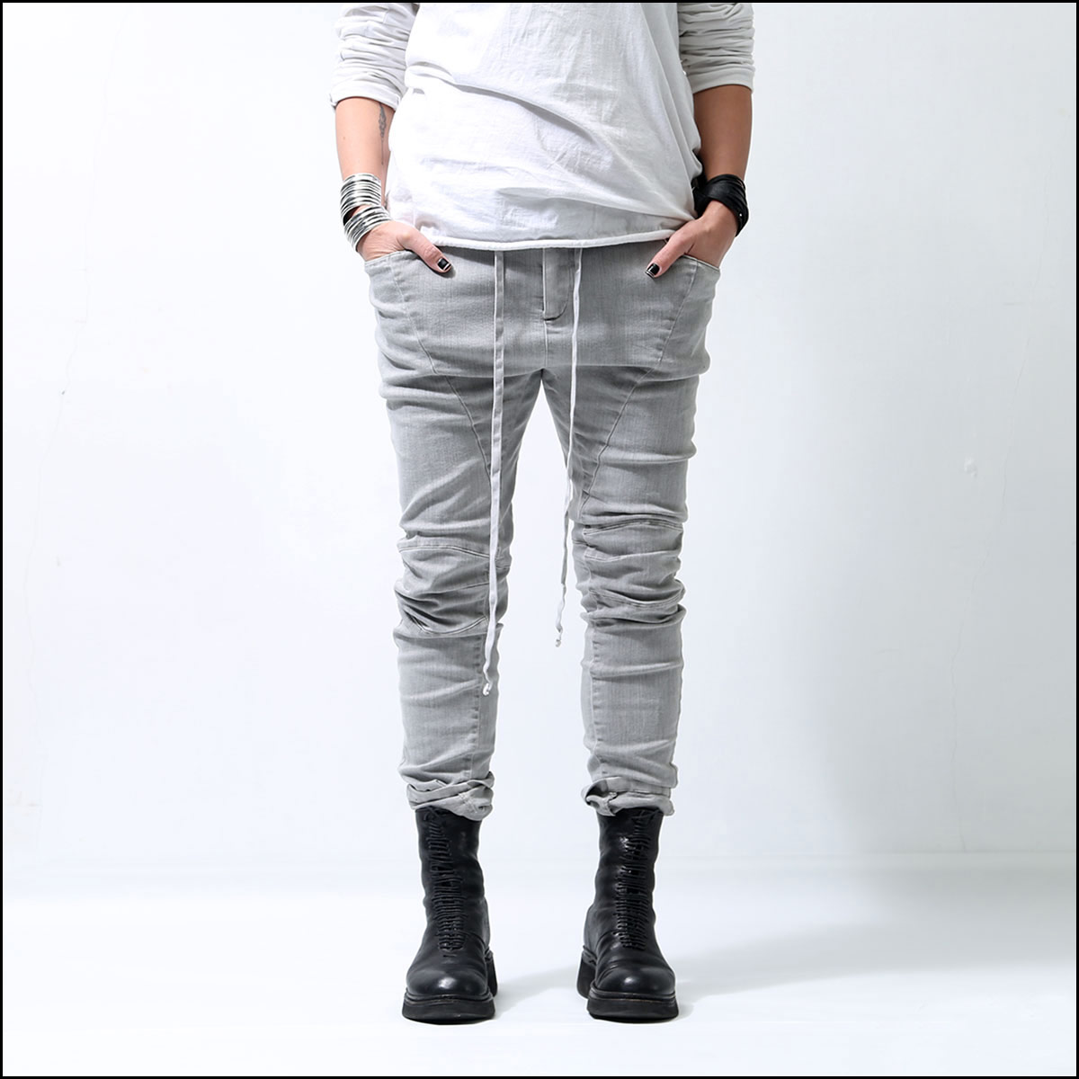 bajra_STRETCH SLIM DENIM 129BP08_grey