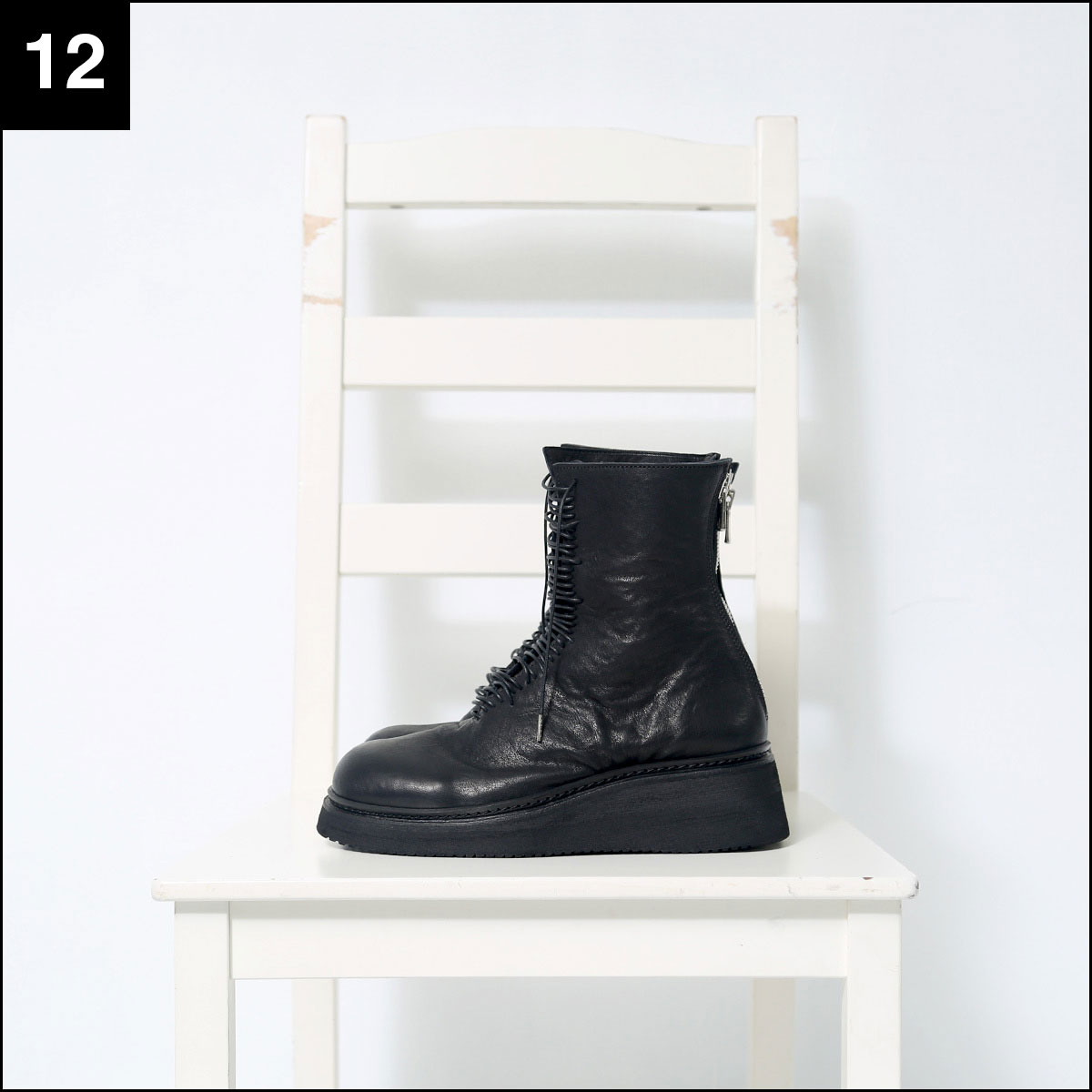 Portaille_LACE UP BOOTS