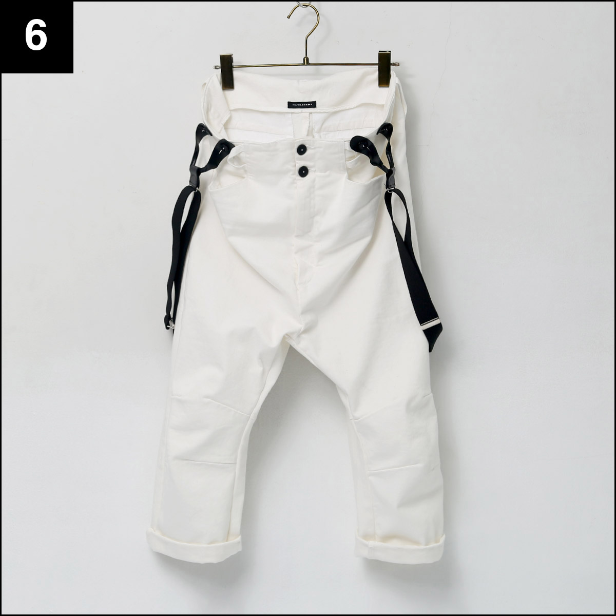 MAVRANYMA_SUSPENDER PANTS